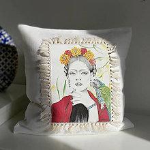 Úžitkový textil - Ľanová umelecká obliečka na vankúš - 13060252_