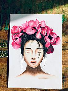 "Kresby - Botanické ArtDeco ""Dreaming Beauty"" - 13060108_"