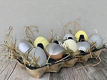 Dekorácie - Betónové vajíčka Ups (Žltá) - 13060012_