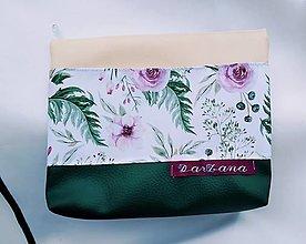 Taštičky - Kozmetická taštička Kvety - 13058717_