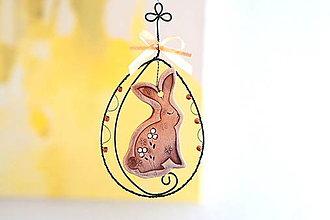 Dekorácie - veľkonočný zajko - 13058346_