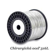 Suroviny - Drôt 1,2mm /M9472/ - lesklý, tvrdý - chir.oceľ 316L - 13064332_