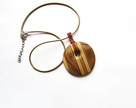 Náhrdelníky - Drevený náhrdelník - 13062976_