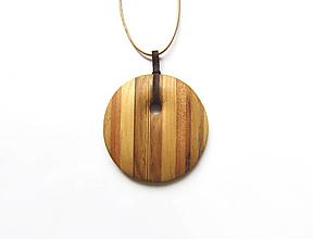 Náhrdelníky - Drevený náhrdelník - 13063018_