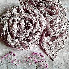Šály - Pudr a růž - vintage šálka starorůž - 13063896_