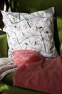 Úžitkový textil - FLORAL akvarelová obliečka - Euonynus I. - 13063498_