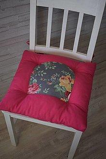 Úžitkový textil - PODSEDÁKY..květy - 13064454_
