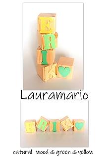 Hračky - Kocky drevené Erik - 13065508_