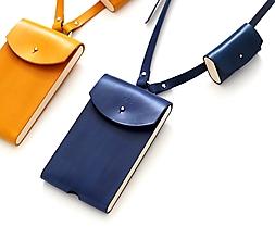 Na mobil - Kožené púzdro PHONE & AIRPODS POUCH BLUE - 13064222_