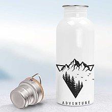 Nádoby - Nerezová fľaša - 13062364_