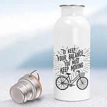 Nádoby - Nerezová fľaša - 13062374_