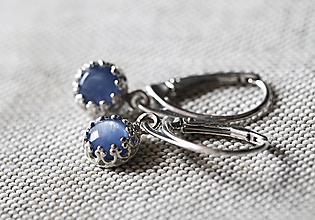Náušnice - S nebesky modrým kyanitem do ouška - 13066275_