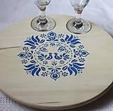Dekorácie - Folklórna otočná doska- vidiecky drevený podnos - 13062820_