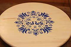 Dekorácie - Folklórna otočná doska- vidiecky drevený podnos - 13062823_