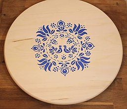 Pomôcky - Svadobný dar Hrdličky- folklórny podnos ručne maľovaný - 13062415_