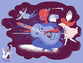 """Dobrý obchod - Ilustrácia """"Tichá noc"""" - 13064685_"""