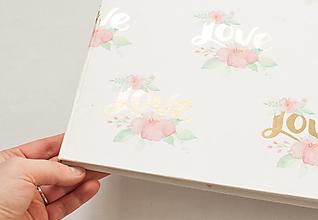"""Papiernictvo - Svadobná kniha hostí / fotoalbum """"love"""" - 13065655_"""