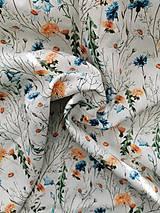 Textil - 100 % ľan vzorovaný, predpraný, mäkčený prémiový európsky ľan - cena za 0,5m - 13065683_