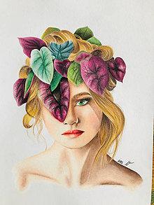"""Kresby - Botanické ArtDeco """"Kráľovná Amazónie"""" - 13063548_"""