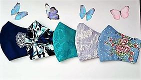 Rúška - Rúška modrá kolekcia - 13066294_