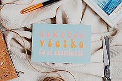 Papiernictvo - pohľadnica / kolekcia DOKÁŽEŠ VŠETKO - 13063461_