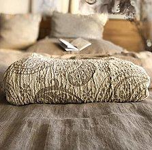 Úžitkový textil - Obojstranná ľanová prikrývka - 13065771_