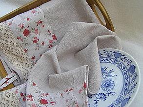 Úžitkový textil - utierky ľanové - 13069119_