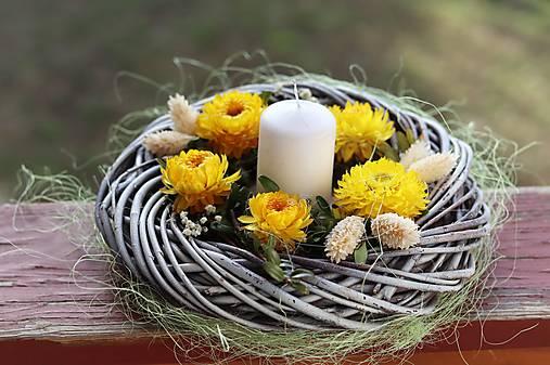 Dekorácie - Jarný svietnik - 13067784_