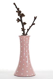 Dekorácie - Ružová vázička - 13068058_