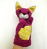 Maňuška mačka - Mačička vo fialovom kožúšku
