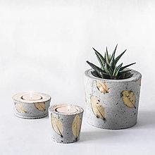 Svietidlá a sviečky - Kvetináč a svietniky - 13070827_