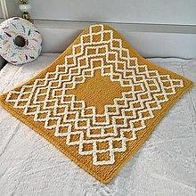 Textil - medovožltá deka 85cm - 90cm : z Puffy Fine - 13069064_