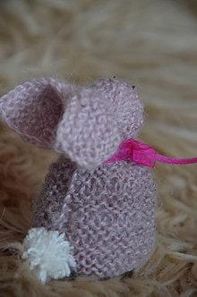 Dekorácie - Pletený zajac - 13070021_