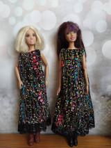 Hračky - Voľné úpletove čierno-farebne šaty - 13068180_
