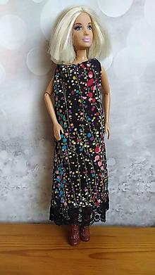 Hračky - Voľné úpletove čierno-farebne šaty - 13068181_