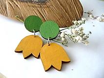 Náušnice - jarné náušnice v žlto-zelenej - 13070650_