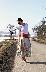 Sukne - Trojštvrťová sukňa s bylinkami - 13070733_
