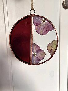 Dekorácie - Závesná dekorácia so sušenými hortenziami - 13070271_