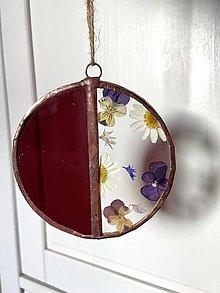 Dekorácie - Závesná dekorácia so sušenými kvetmi - 13071022_