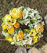 Dekorácie - Celoročny veniec -rununculus,pivonia,fialka,hortenzia - 13070289_