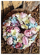 Dekorácie - Celorocny veniec-hortenzia,pivonia - 13070290_