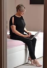 Nohavice - Home office kalhoty (Black) - 13071081_