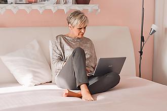Nohavice - Home office kalhoty (Grey) - 13071050_