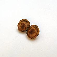 Náušnice - Drevená náušnice klipsňové - zo špaltovanej brestovej halúzky - 13069971_