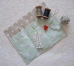 Úžitkový textil - Organizér na okrúhle ihlice - 13073800_