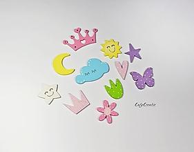 Detské doplnky - Dievčenské dekory-sada 11ks - 13071693_