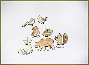 Magnetky - Lesné zvieratká-SADA - 13071755_