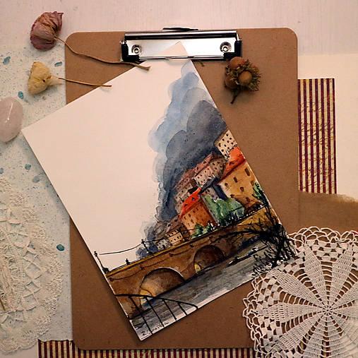 Veselé kačky/ akvarelový originál by Richie Bumpkin
