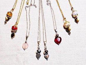 Náhrdelníky - Nežné valentínky - 13074445_