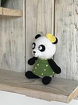 Hračky - Panda so žltou mašličkou - 13073118_